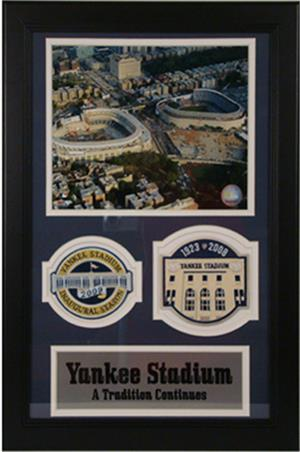 Yankee Stadium Old And New Double Std Patch Frame