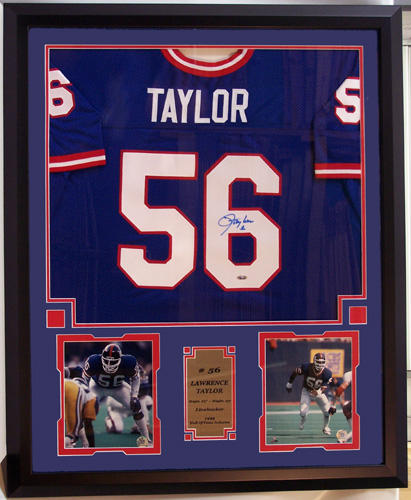 free shipping 6d11e 2e715 NY Giants Lawrence Taylor Autographed Home Jersey ...