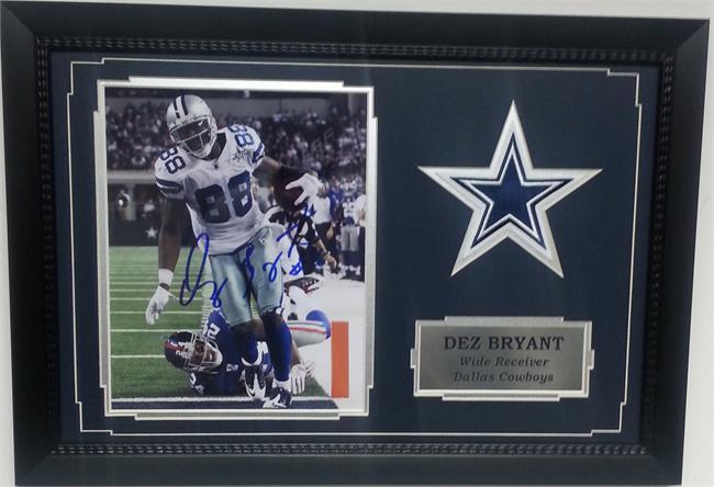 11x14 Autograph Frame Dez Bryant Dallas Cowboys
