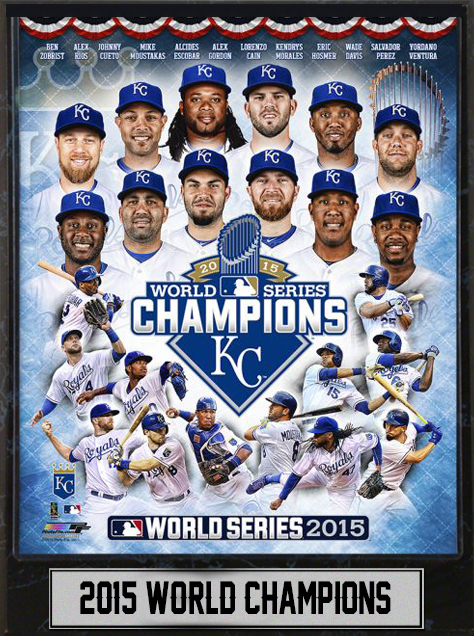 outlet store 266d6 a267c 9x12 Plaque - Kansas City Royals World Champions