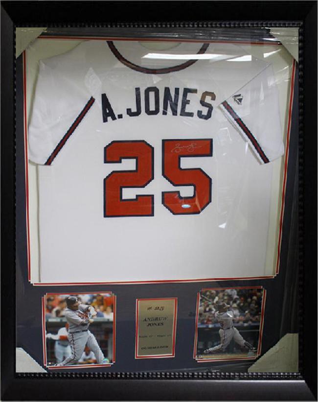 36x44 Autographed Jersey Frame - Andruw Jones Atlanta