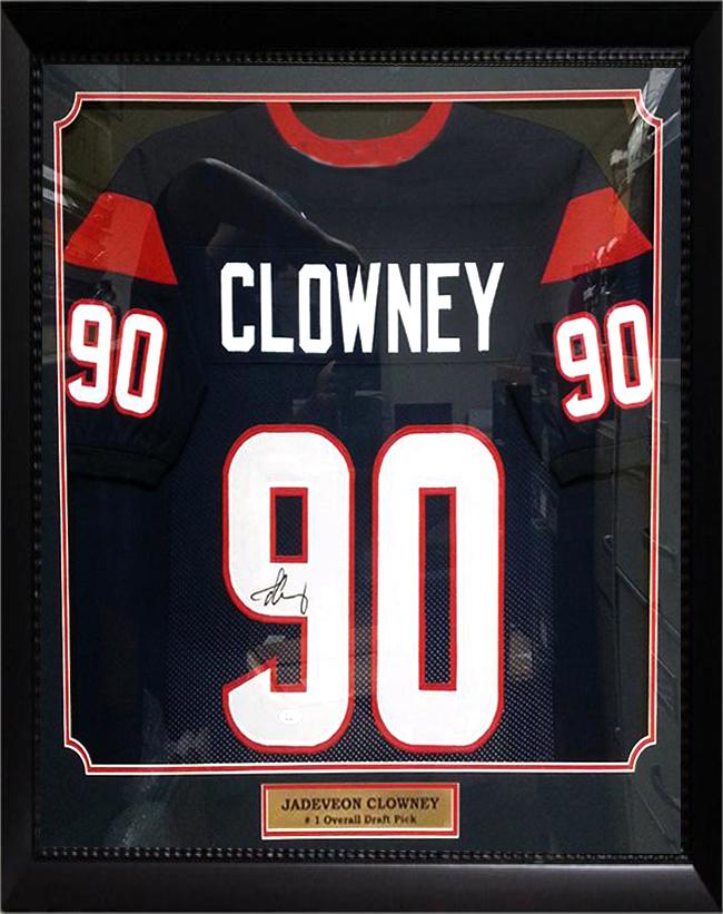 36x44 Autographed Jersey Frame - Jadeveon Clowney Houston ...