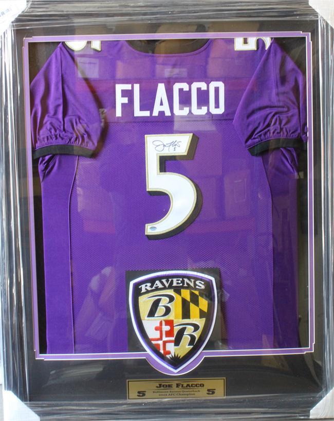 36x44 Autographed Jersey Frame - Joe Flacco Baltimore