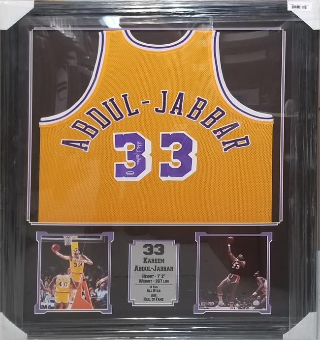 Kareem Abdul Jabbar Autographed Los Angeles Lakers Home ...