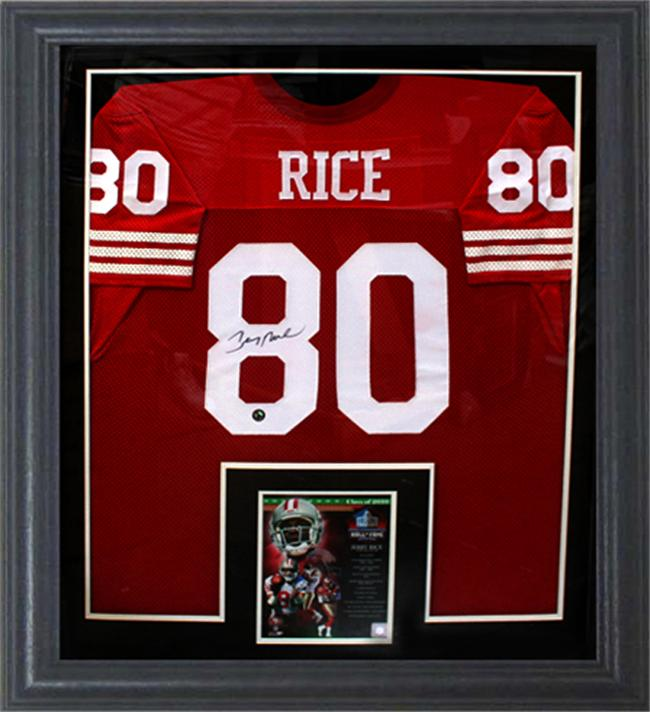best service 2318a 4dfc4 Jerry Rice Autographed San FrancIsco 49ers Home Jersey ...