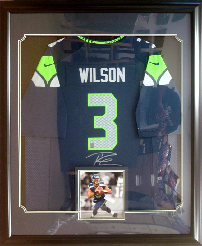 russell wilson framed jersey