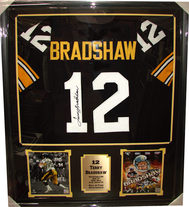 outlet store ef5ec a5313 36x44 Autographed Jersey Frame - Terry Bradshaw ...